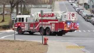 Yonkers FD Engine 303 + Tower Ladder 71 + Ladder 74 Responding