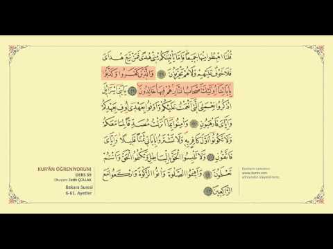 Kuran Öğreniyorum 39 - Bakara Suresi 6-61. Ayetler (Fatih Çollak)