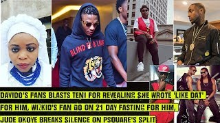 Davidos Fans Blasts Teni For Revealing She Wrote Like Dat Wizkids Fan On Fasting For Him