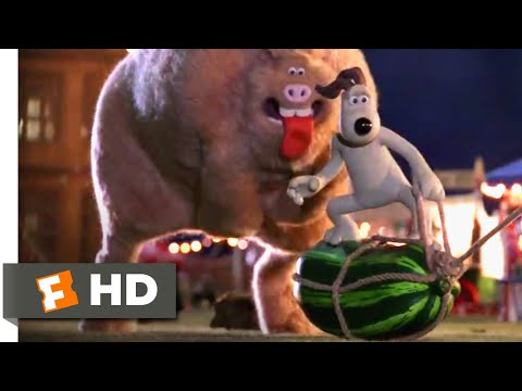 Wallace & Gromit: The Curse Of The Were-Rabbit (2005) - Rabbit Bait Scene (8/10)   Movieclips