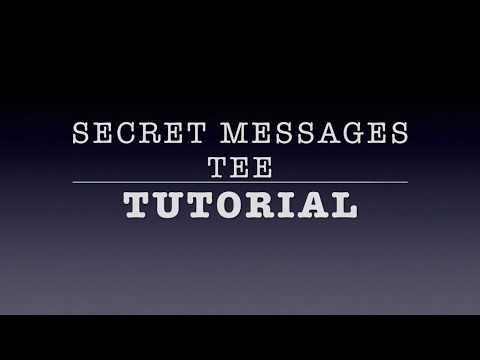 Secret Messages Tee Color Changing Shirt Tutorial