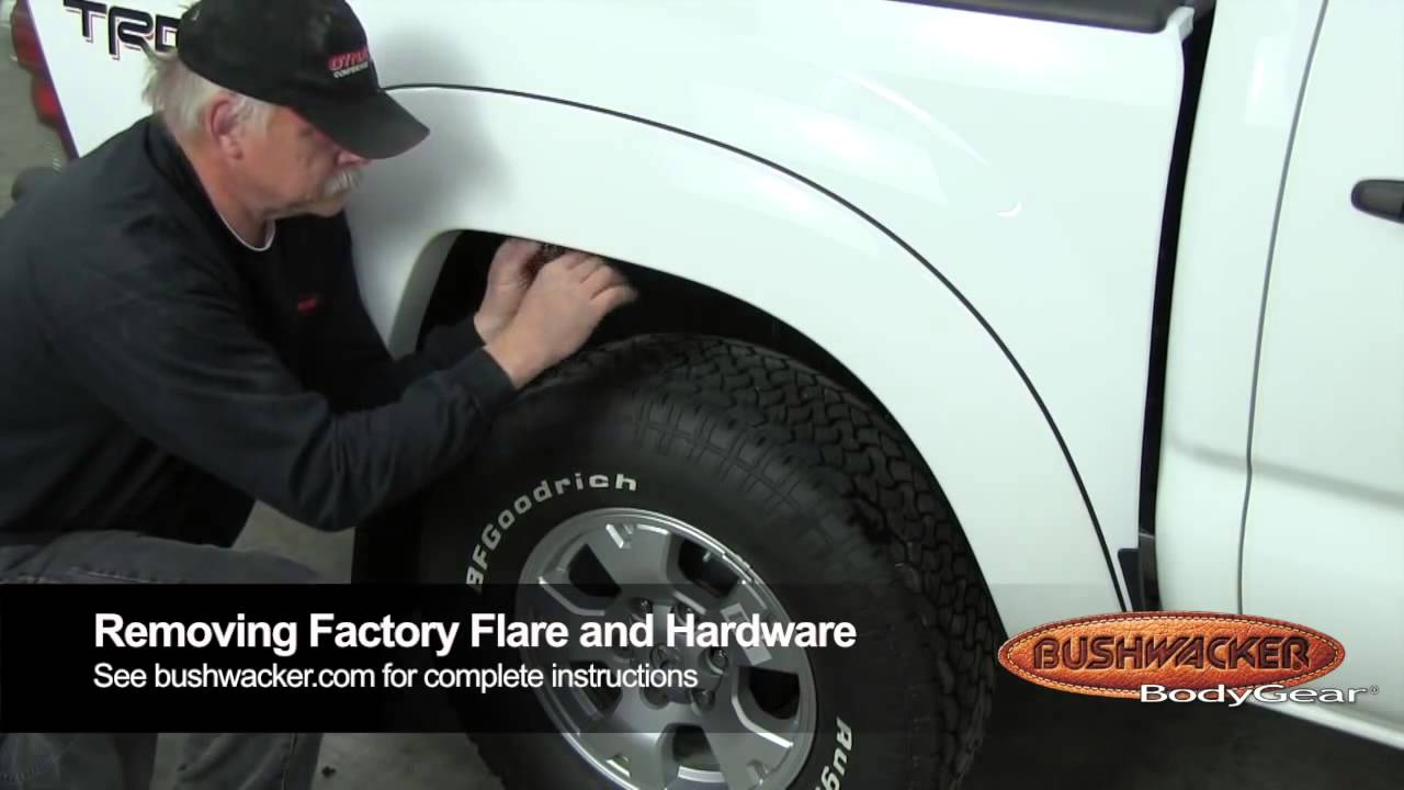 Bushwacker Pocket Style Fender Flares Toyota Tundra White 2004 Sequoia Off Road 2012 Installation Guide Youtube