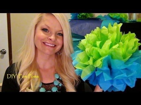 ♥ DIY Tissue Paper Pom-Poms - Party Decorations ♥