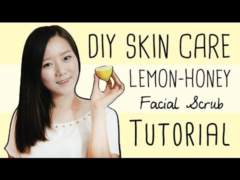 DIY Skincare: Lemon & Honey Facial Scrub (Whitens Exfoliates, Heals Acne Scars!)