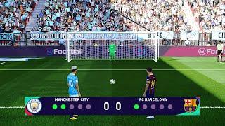 PES 2021 | Manchester City vs Barcelona | Penalty Shootout | Gameplay PC - Messi vs Man City