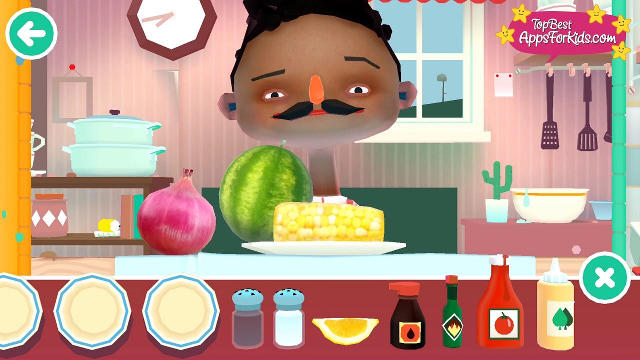 Toca Kitchen 2 🥗 Veggie Meals Prep 🍅 Cooking Game App For