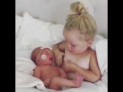 Anak umur 2 tahun menyusui anaknya sendiri wow 😱