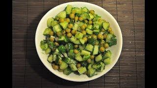 видео Рецепты салатов из свежих огурцов