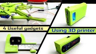 4 useful 3D printed gadget  | using my home made 3D printer