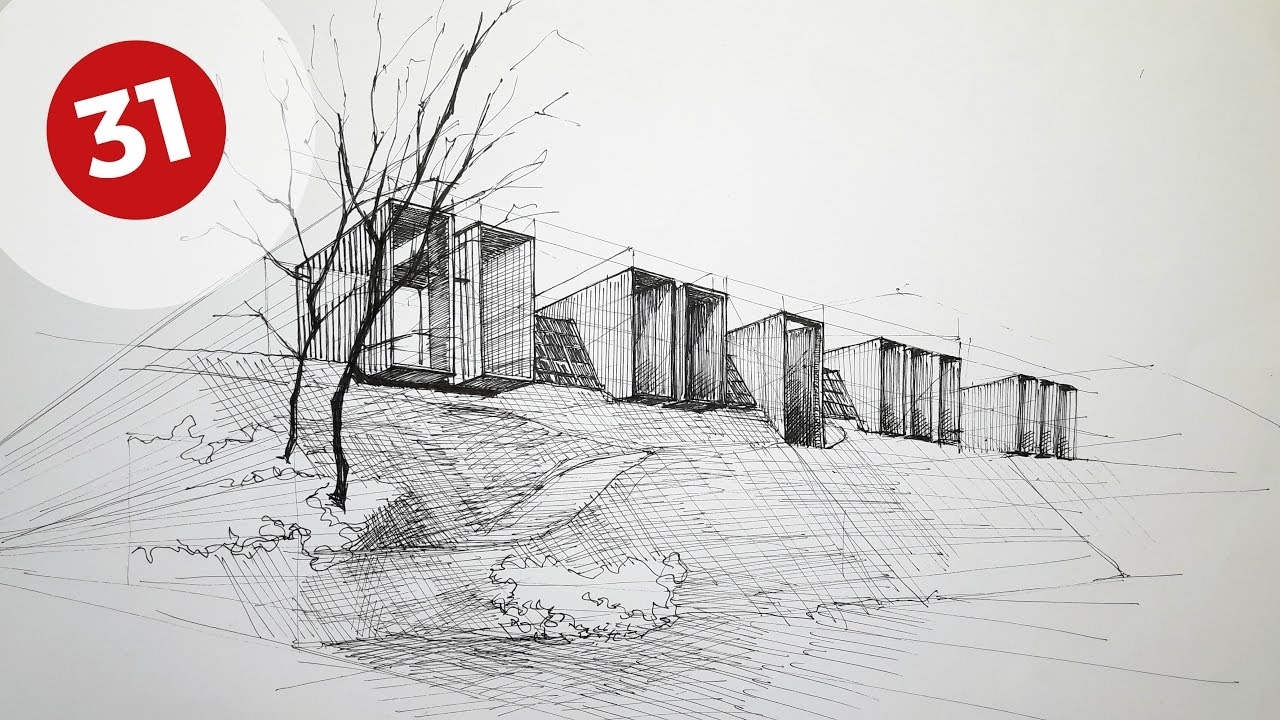 Drawing Rural House  Daily Architecture Sketches 31