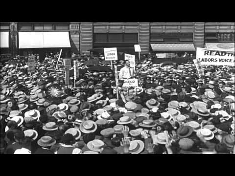 Protest demonstration of laborers in defense of Sacco and Vanzetti, Wall Street, ...HD Stock Footage