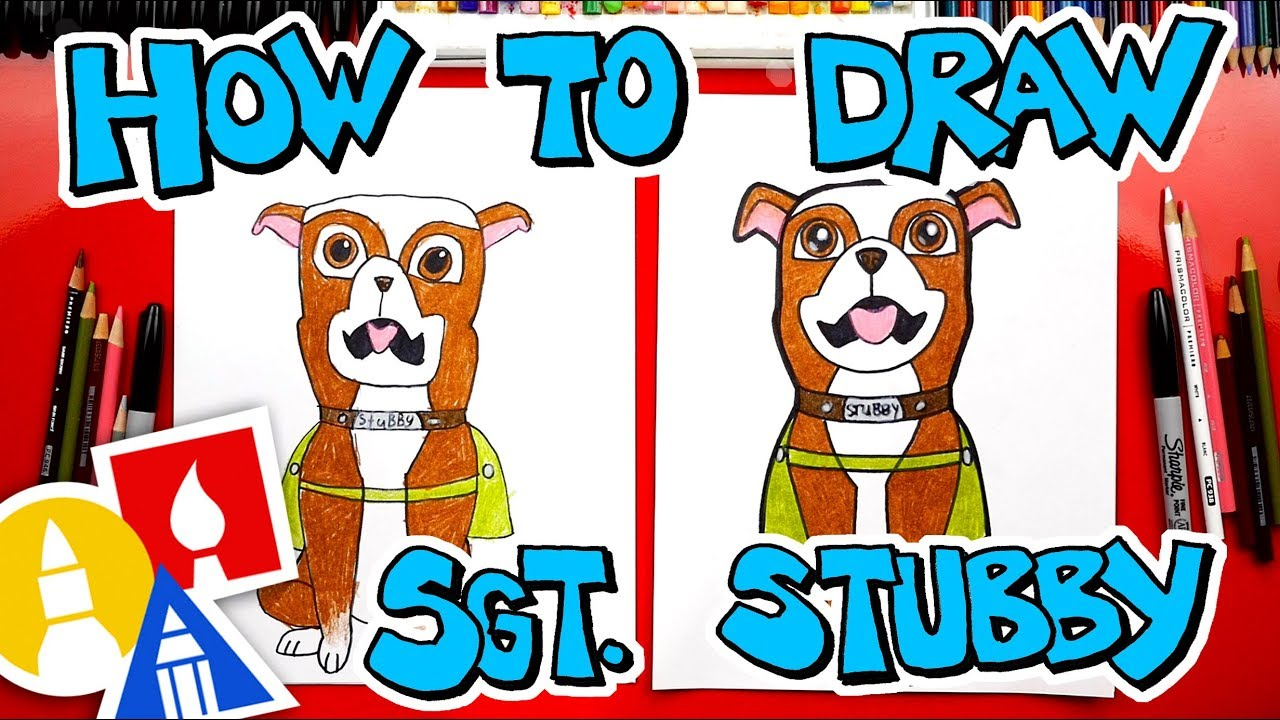 How To Draw Sgt.  Stubby + Giveaway