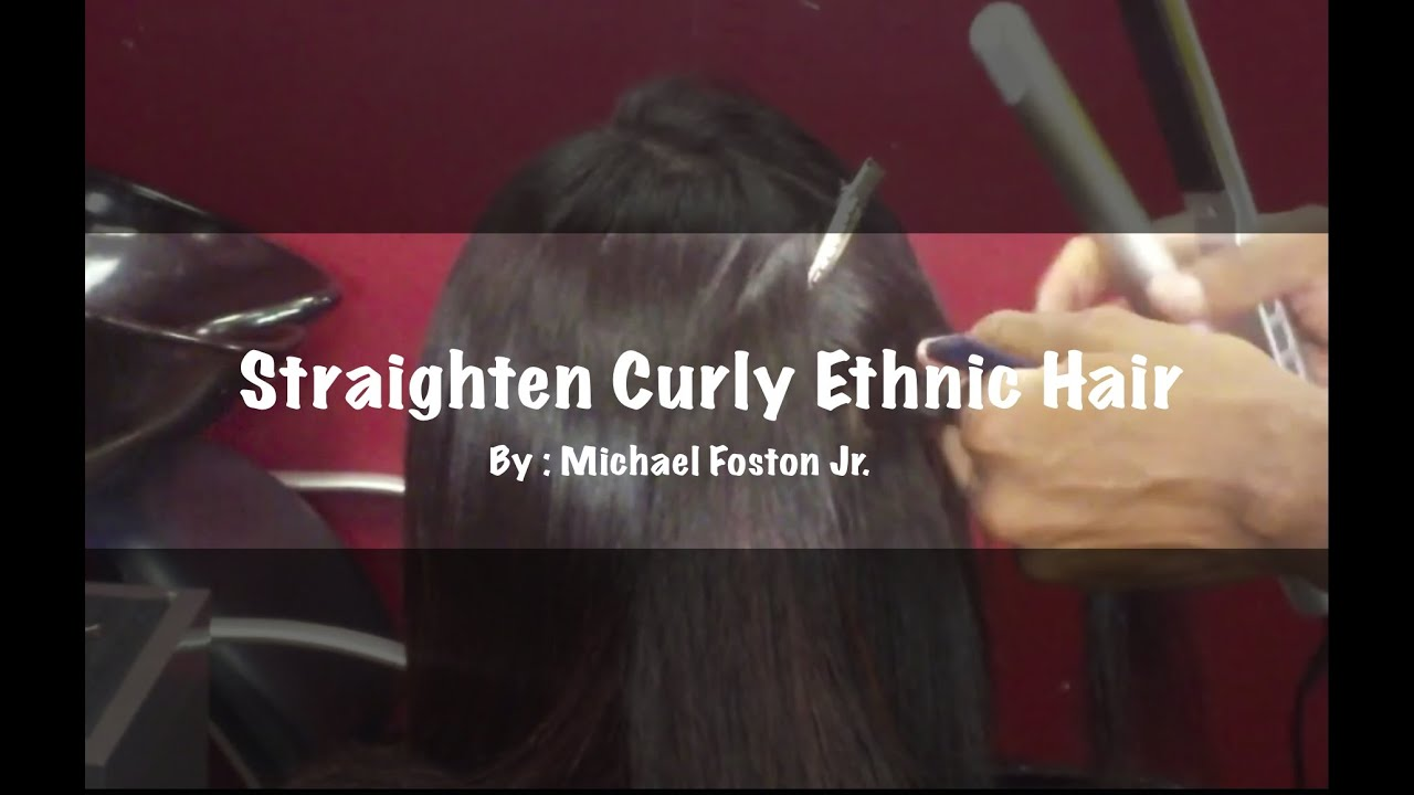 Straighten Curly Ethinic Hair (Blow-out and Flat Iron)