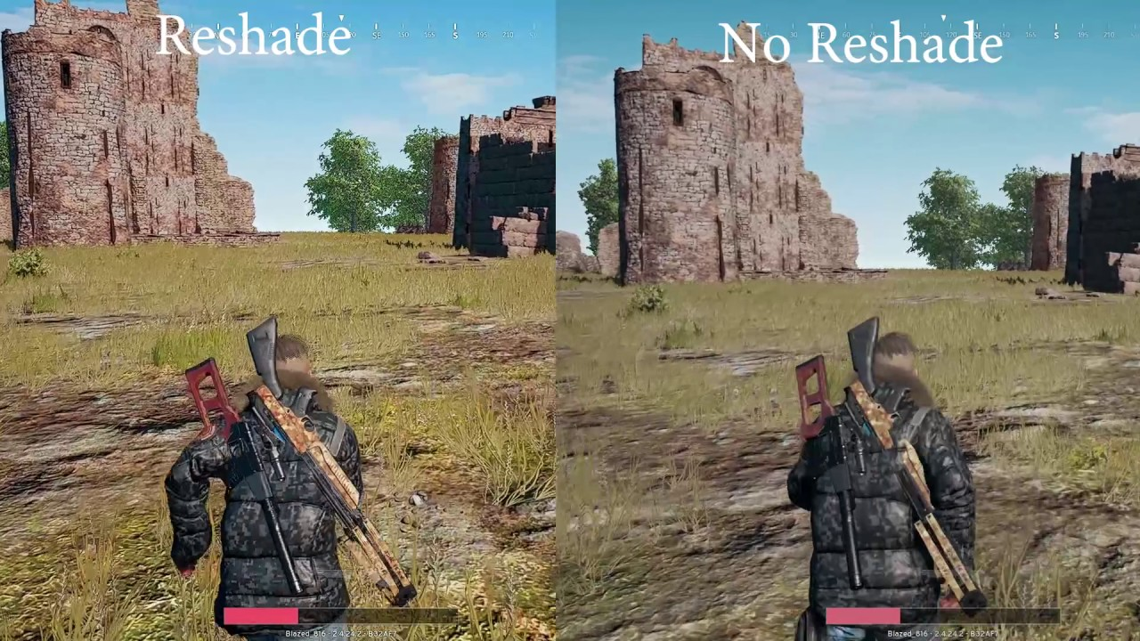 PlayerUnknown Battlegrounds Reshade Difference!