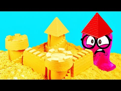 KINETIC SAND CASTLE of Slick Slime Sam
