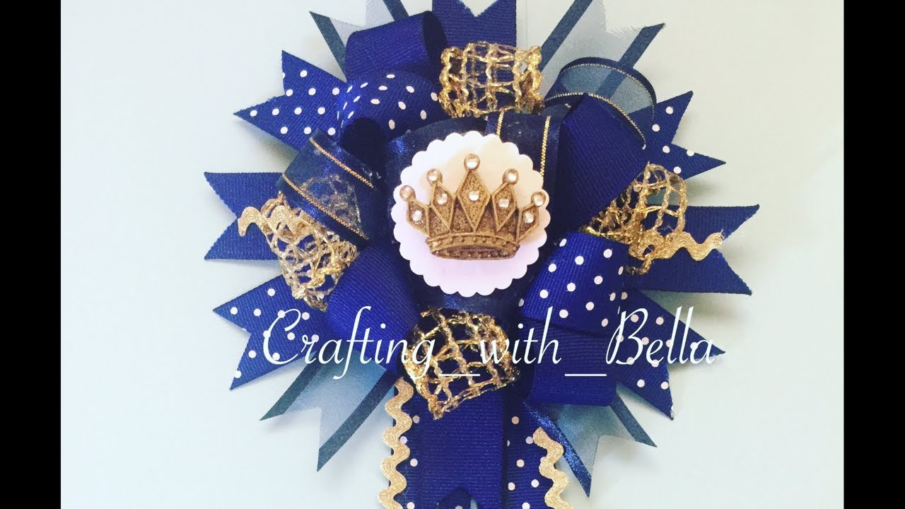 How To Make A Baby Shower Corsage ( Little Prince Theme)