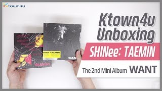 Unboxing SHINee TAEMIN 2nd Mini album [WANT] including Kihno album 샤이니 シャイニー 태민 언박싱 KPOP Ktown4u
