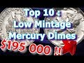 Top 10 Low Mintage Mercury Dimes and What They May Be Worth