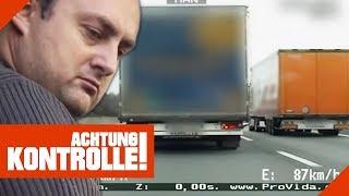 Gefährlicher Fahrstil: LKW macht riskantes Überholmanöver | Achtung Kontrolle | Kabel Eins