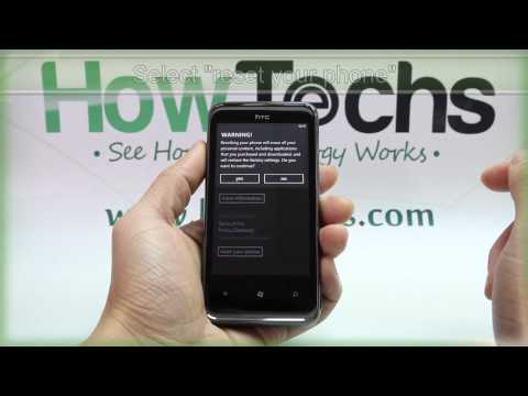 How to Master Reset HTC 7 Pro