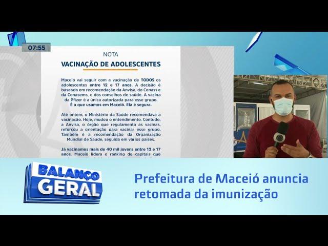 Prefeitura anuncia retomada da imunização para adolescentes de 12 a 17 anos sem comorbidades