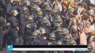 فيديو..استمرار مظاهرات النقابات العمالية في فرنسا