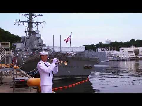Memorial for USS Fitzgerald sailors at Yokosuka