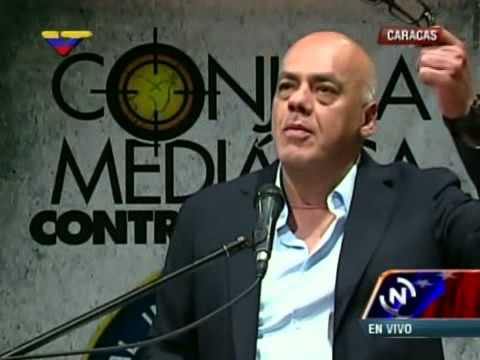 Foto Conjura Mediática: Intervención de Jorge Rodriguez