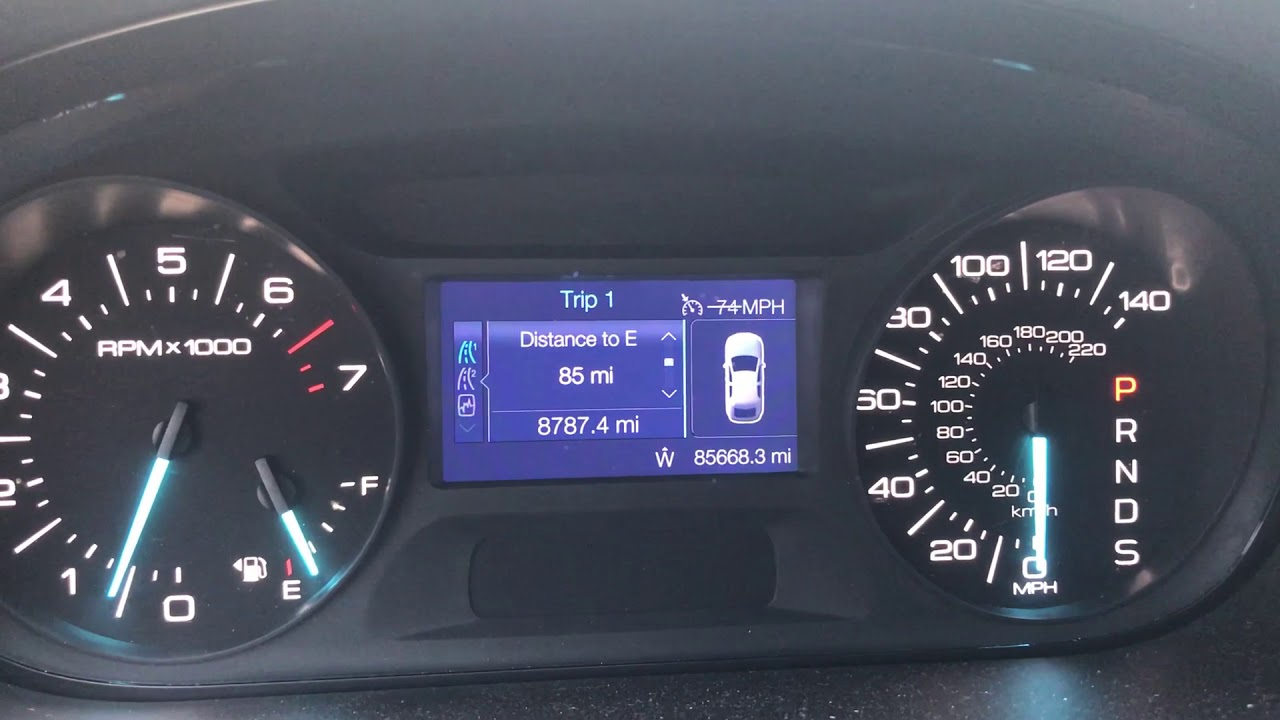2013 Ford Edge fuel gauge & distance to E problems - YouTube