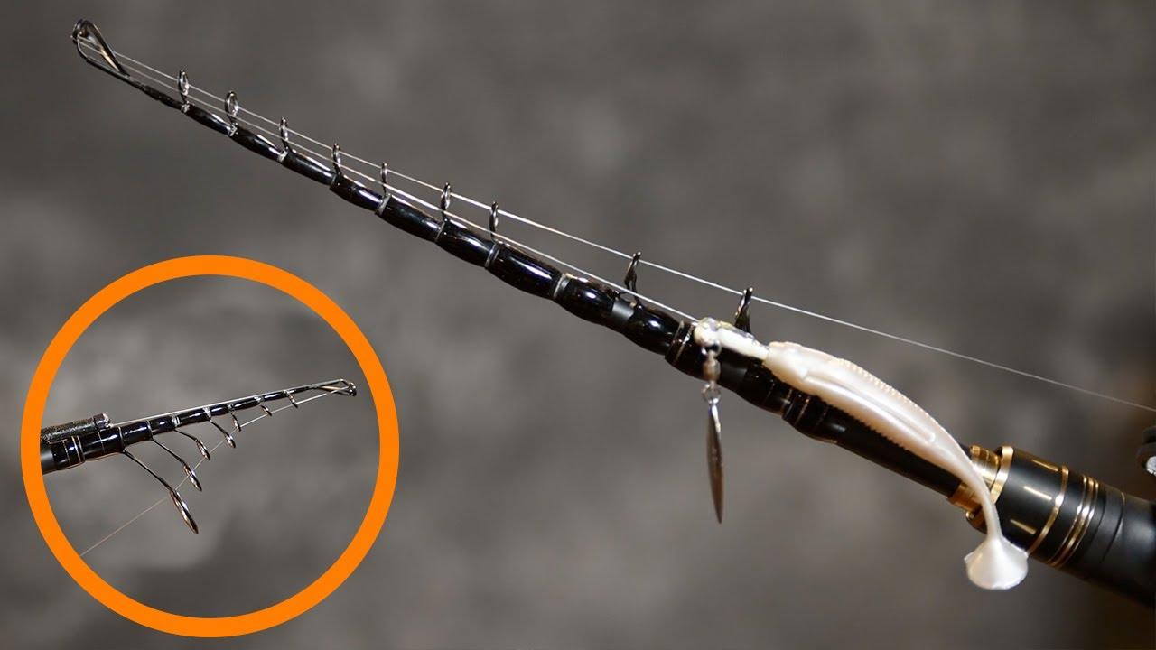 KastKing Blackhawk II Telescopic Fishing Rods Graphite Rod Blanks /& Durable ...