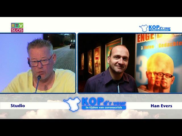 Han Evers in de uitzending van Kop d'r Veur op 24 juni 2020