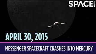 OTD in Space – April 30: MESSENGER Spacecraft Crashes into Mercury