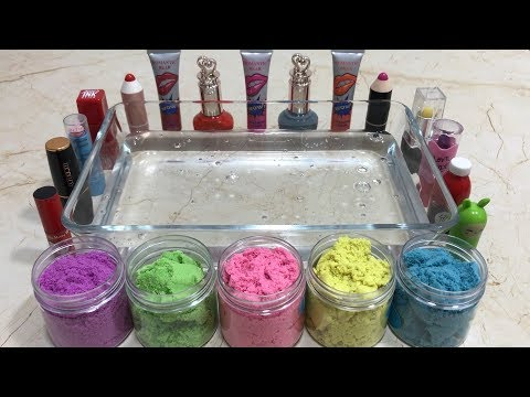 MIXING MAKEUP & KINETIC SAND INTO CLEAR SLIME !! SLIME SMOOTHIE ! MOST SATISFYING SLIME VIDEOS