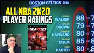 Reacting To All NBA 2K20 Player Ratings