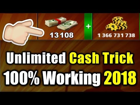 Unlimited Cash Trick 2018 😱 Latest 100% Working 😍 8 Ball Pool