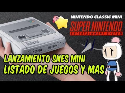Snes Super Nes Mini Confirmada Por Nintendo Listado De Juegos Y