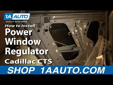 How To Replace Rear Power Window Regulator 03-07 Cadillac ...  Cadillac Cts Wiring Diagram Window on