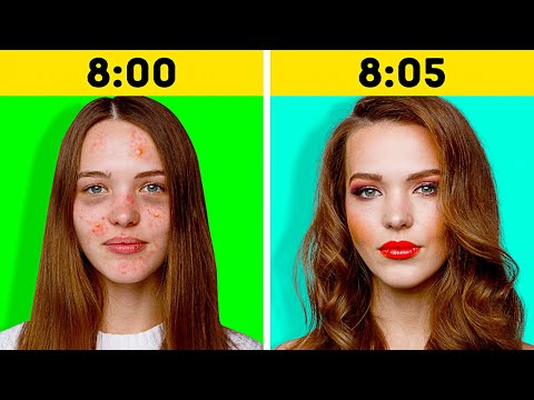 How to Get Ready In 5 Minutes || Beauty Hacks