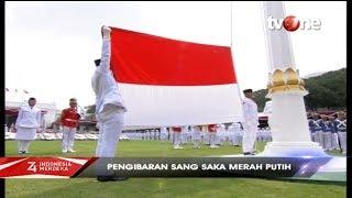Upacara Pengibaran Bendera HUT ke 74 Kemerdekaan RI di Istana Negara