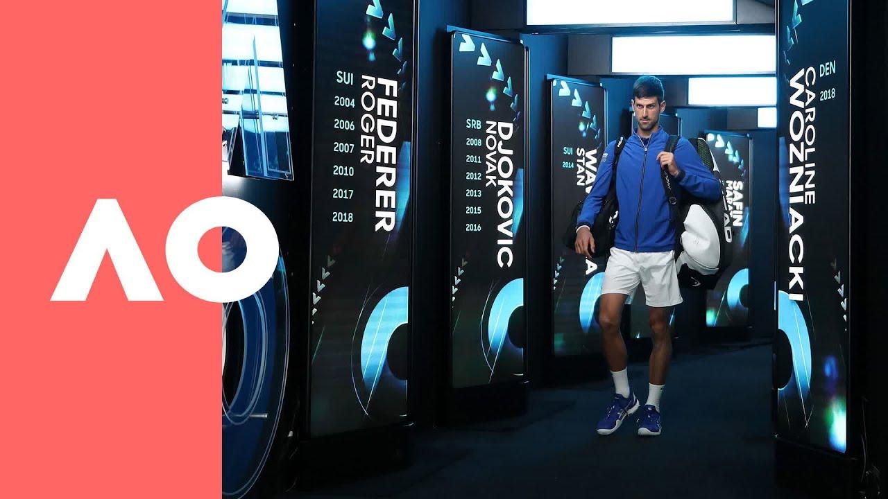 Novak Djokovic v Rafael Nadal on-court warm-up (F) | Australian Open 2019
