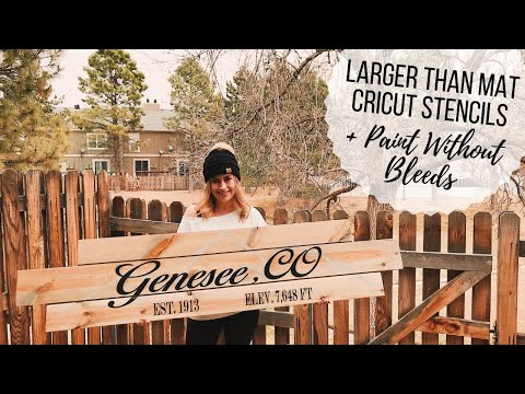How to Cut Larger Than Mat   Stencil for Wood Sign + Paint Without Bleeds   Cricut Design Space