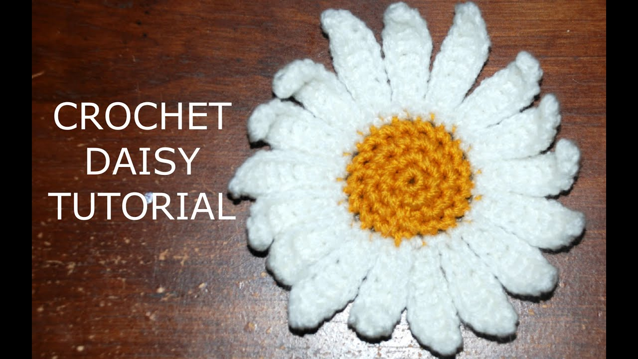 How to Crochet a Daisy Flower Part I - Crochet Jewel - YouTube