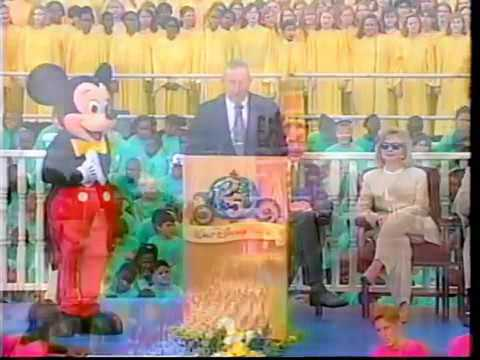 Roy E. Disney reads his father's speech at the 20th anniversary of Walt Disney World (1996)