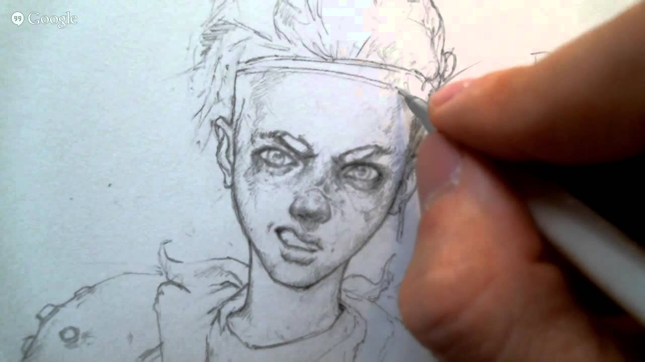 Livestream pencil sketching and rendering 8 26 2015 youtube