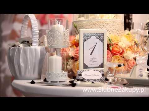 Dekoracje na wesele czarno-białe kup przez internet w sklepie slubnezakupy.pl