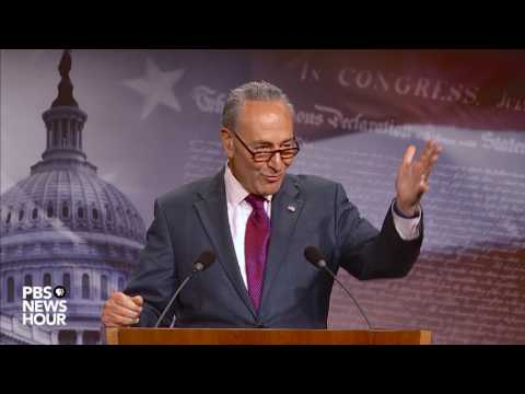 Chuck Schumer holds news briefing after failure of Obamacare repeal