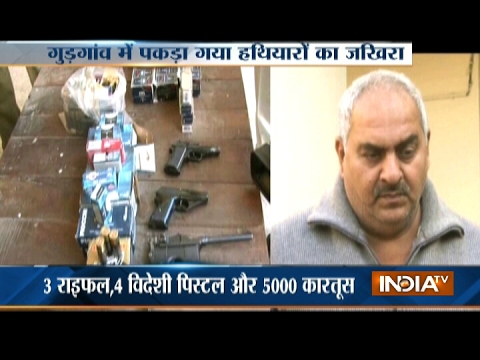 Man Arrested with illegal Arms and Ammunition in Gurugram