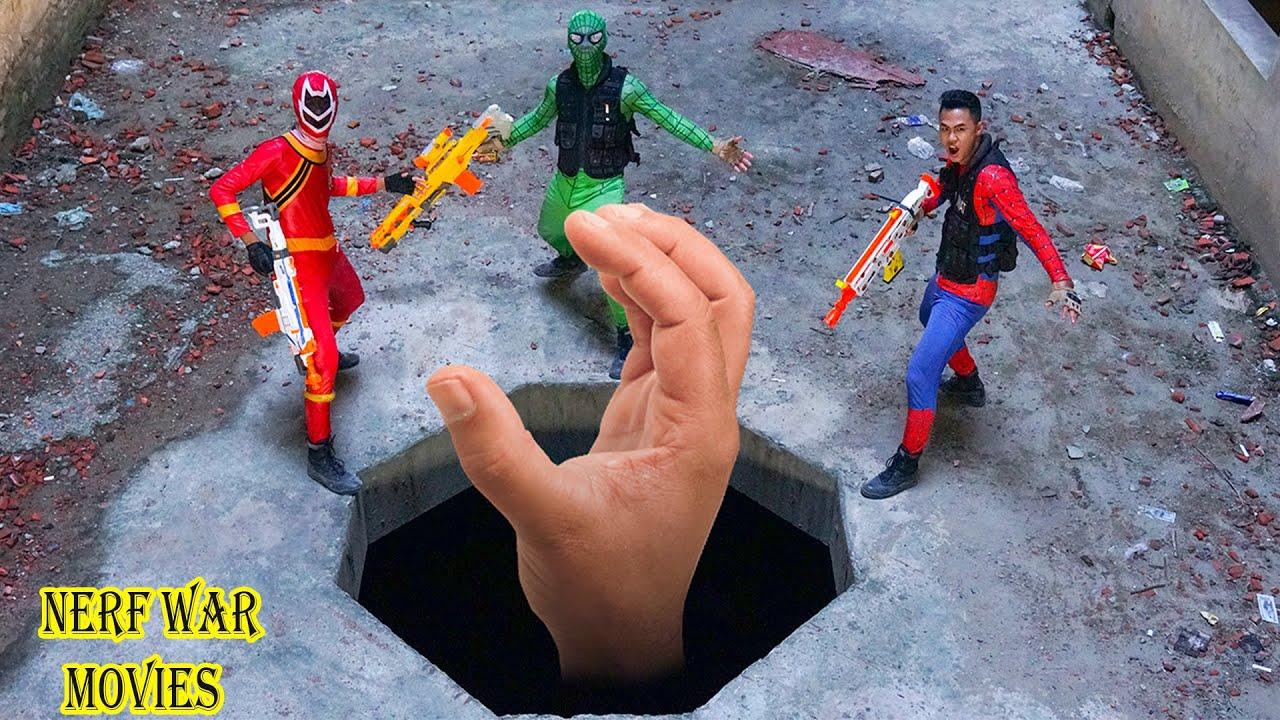 Nerf War Movies: SWAT X Warriors Nerf Guns Fight Criminal Group Monster Hand Of Hell