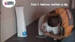 كل خطوات العمل لتثبيت الحمام  و مغسلة او الحوض من ايطاليا
