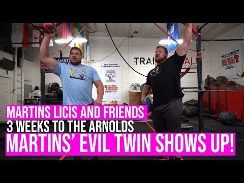 Pressing, Deadlifts, And Evil Twins - 3 Weeks To The Arnold's